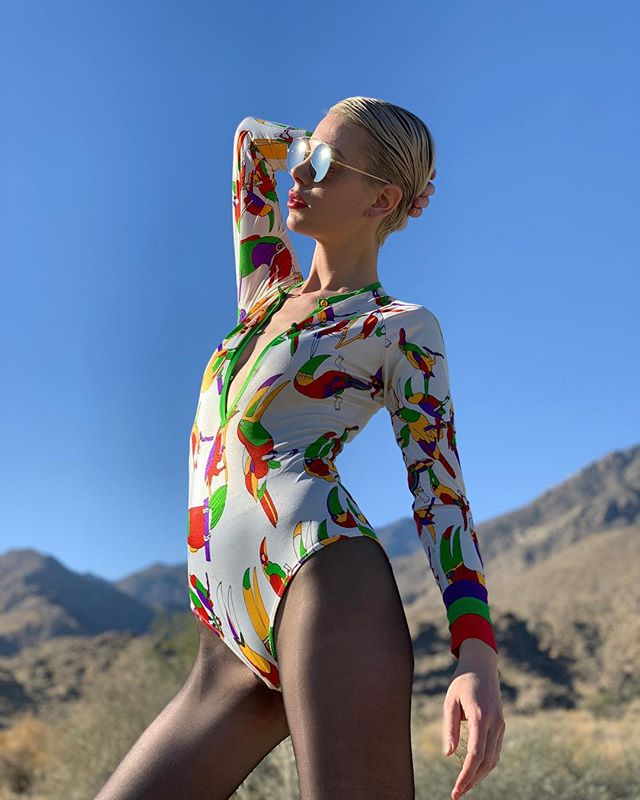 Jet off to a tropical island looking fierce in this vintage early 1970's Giorgio di Sant' Angelo leotard! Only @acurrentaffair #bestvintageunderoneroof