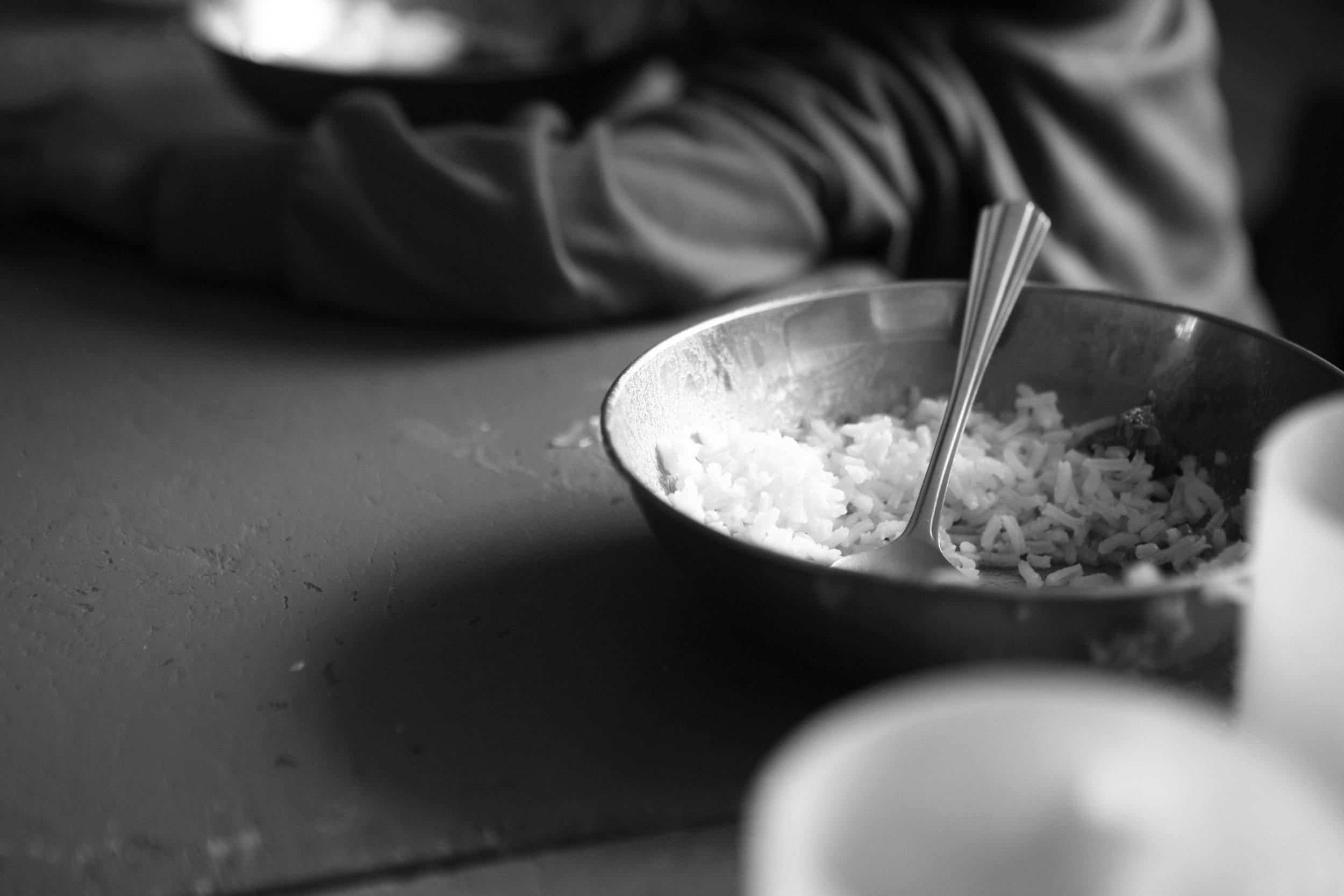Feed an orphan rice