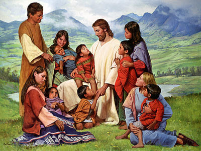 Del Parson Picture of Jesus and Orphaned Children and Volunteers.png