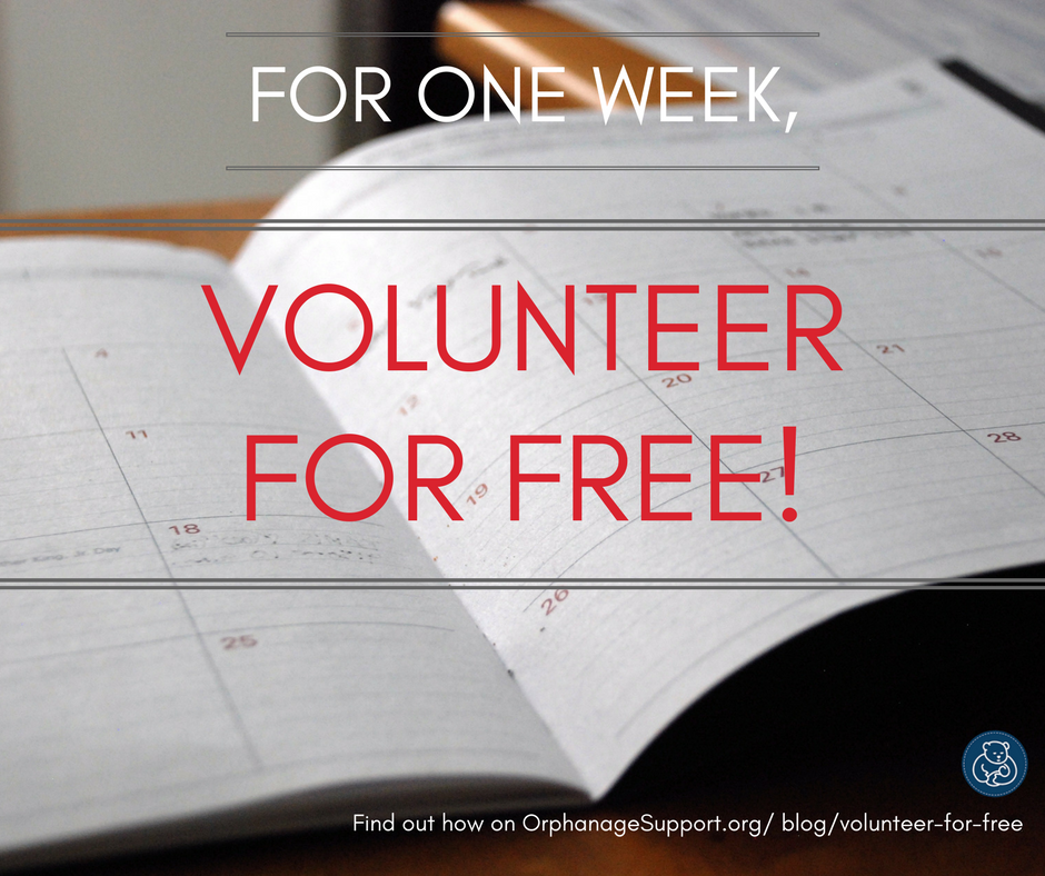 Volunteer in orphanages for free for one week
