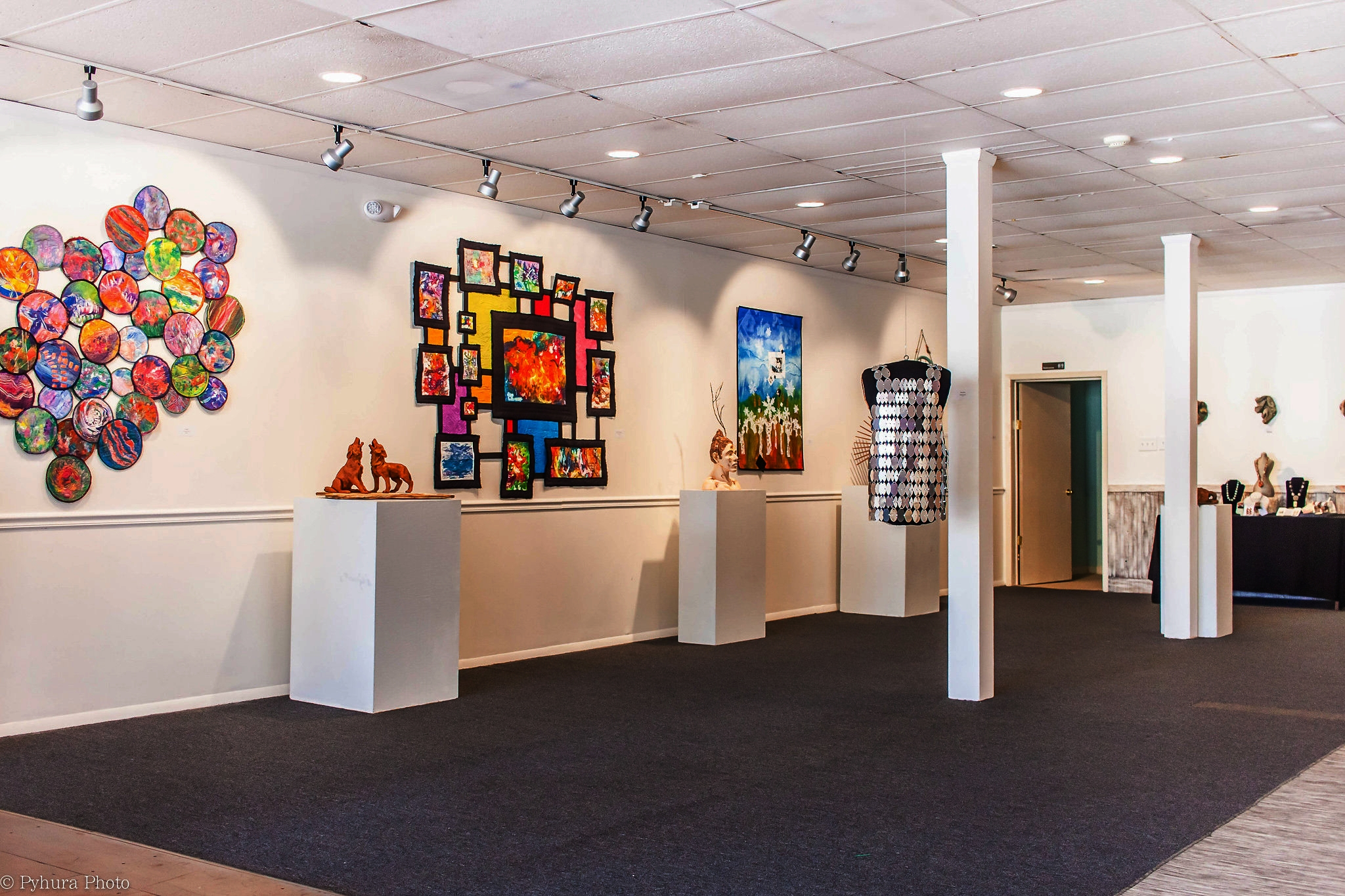 Art gallery and exhibits -