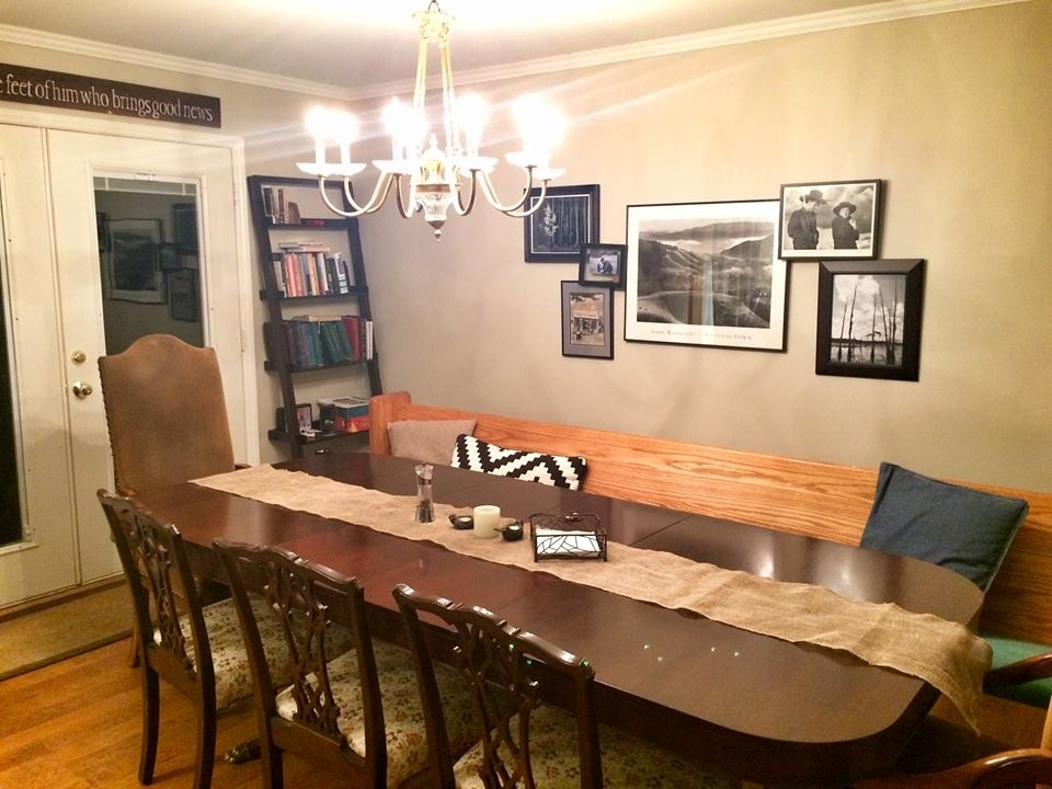 Walt and Eleanor Miner's dining room table, home at last.