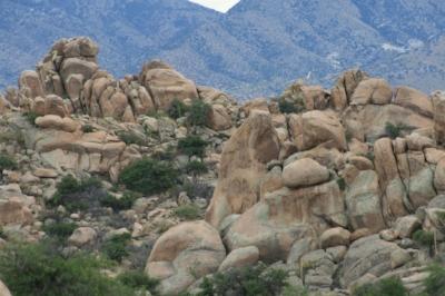 Texas Canyon, AZ with Dragoon Mountains in the background