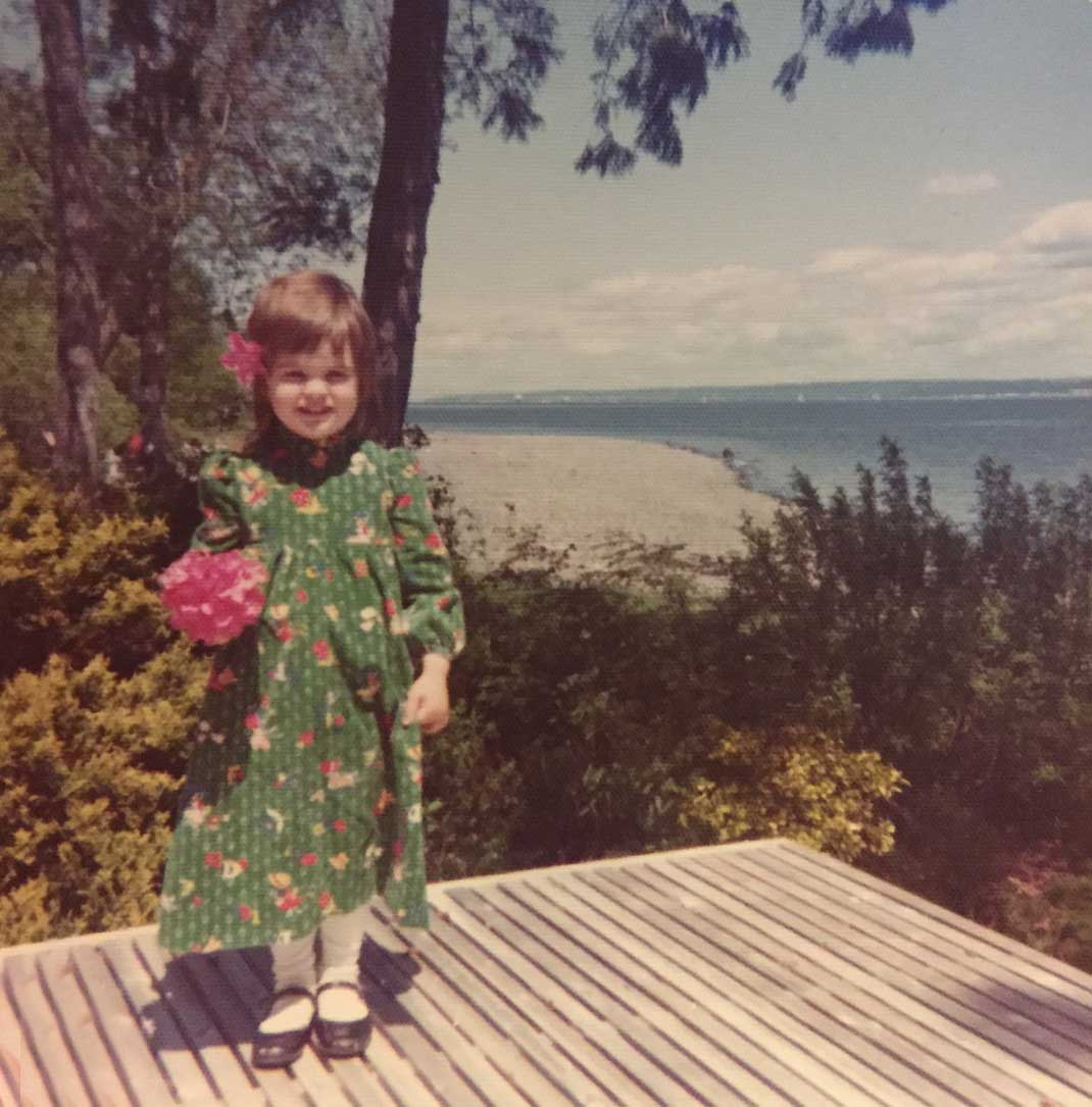 Circa 1975 Bainbridge Island Washington on my back porch. Just to the right is the beach I played on for hours and hours, discovering. Just to the right is downtown Seattle, ferries, ducks, the little island where i saw the little white harbor seal...