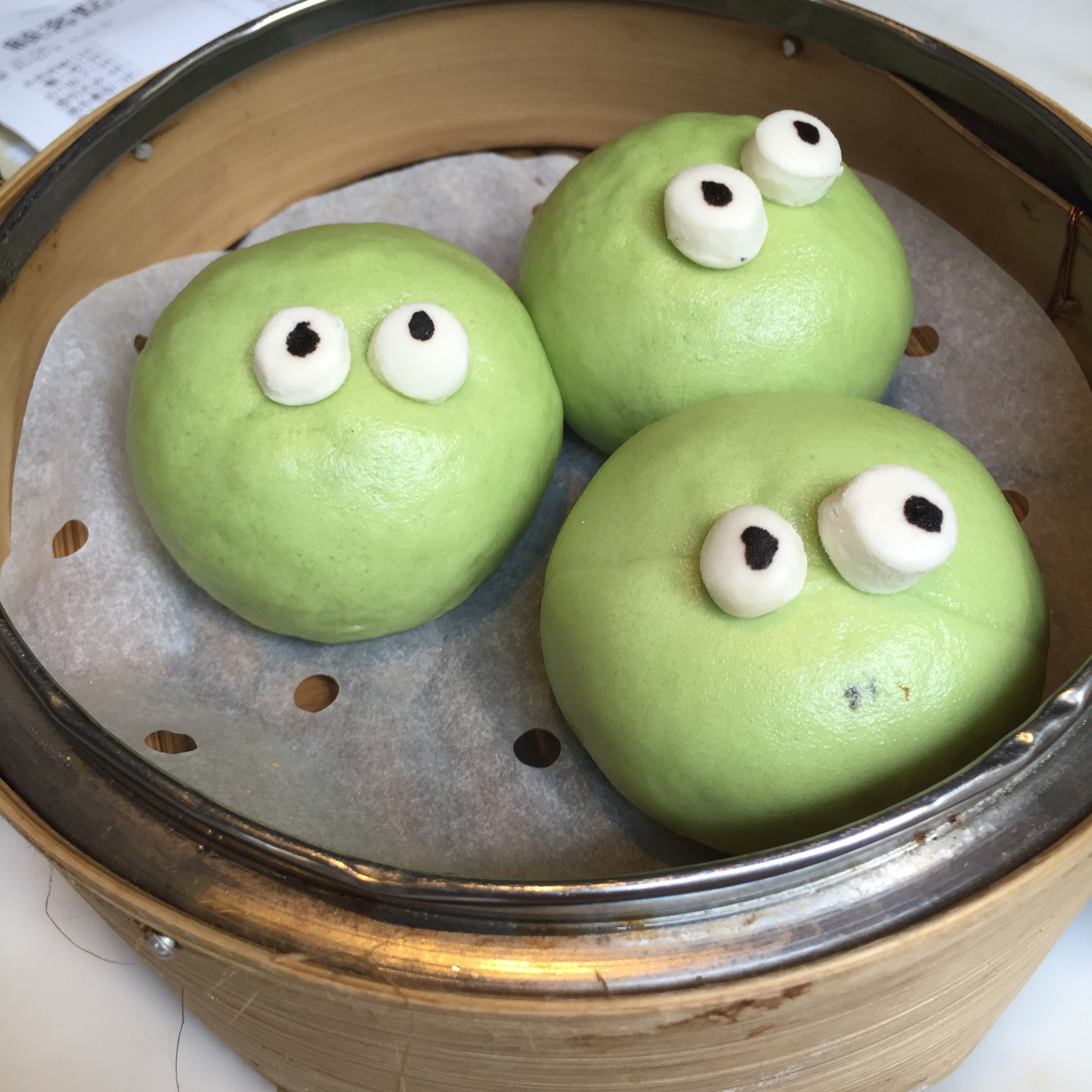 These little green monsters look so cute and friendly, but take a bite and watch them puke matcha
