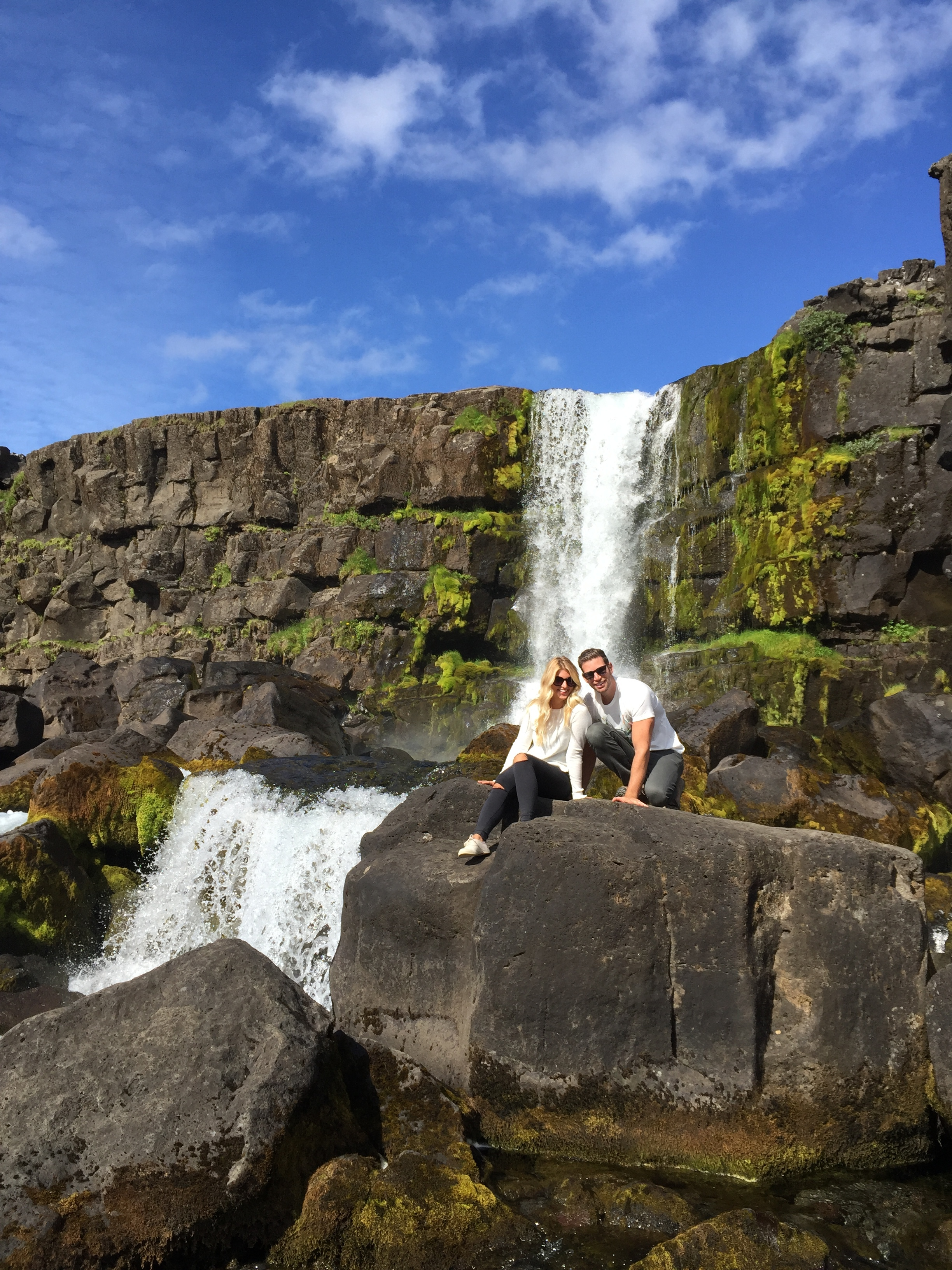 Just behind Þingvellir there's a secret little waterfall and a beautiful stream