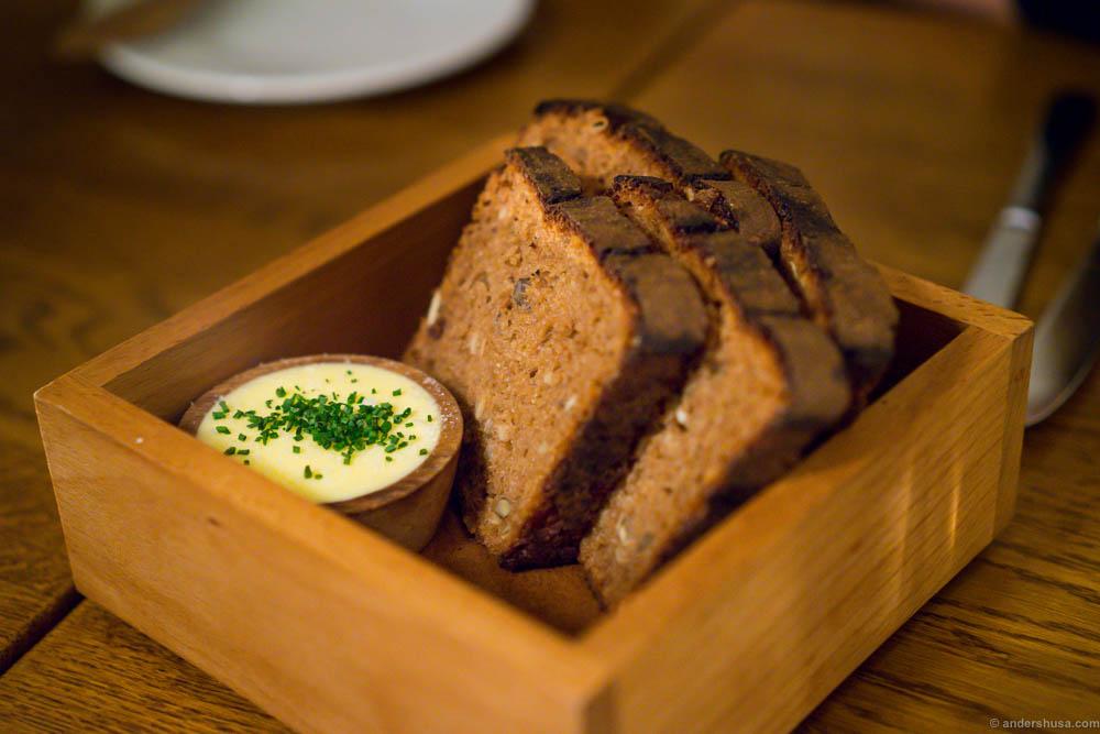 Traditional, black, Estonian bread from Lieb Resto ja Aed