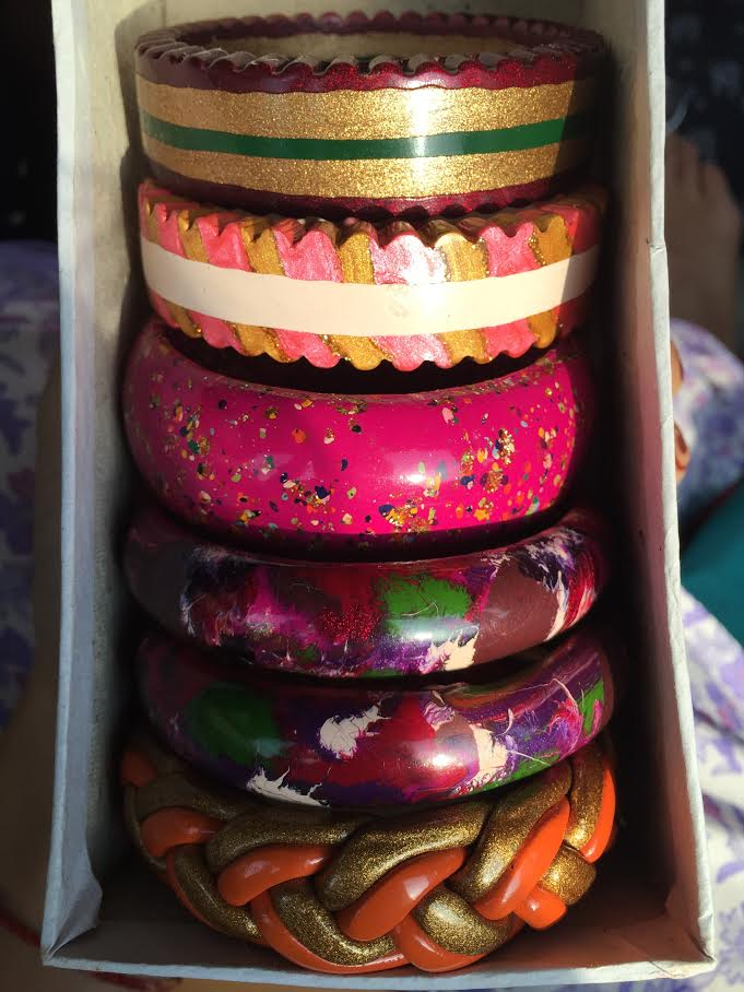 An assortment of lac bangles I picked out in Jaipur