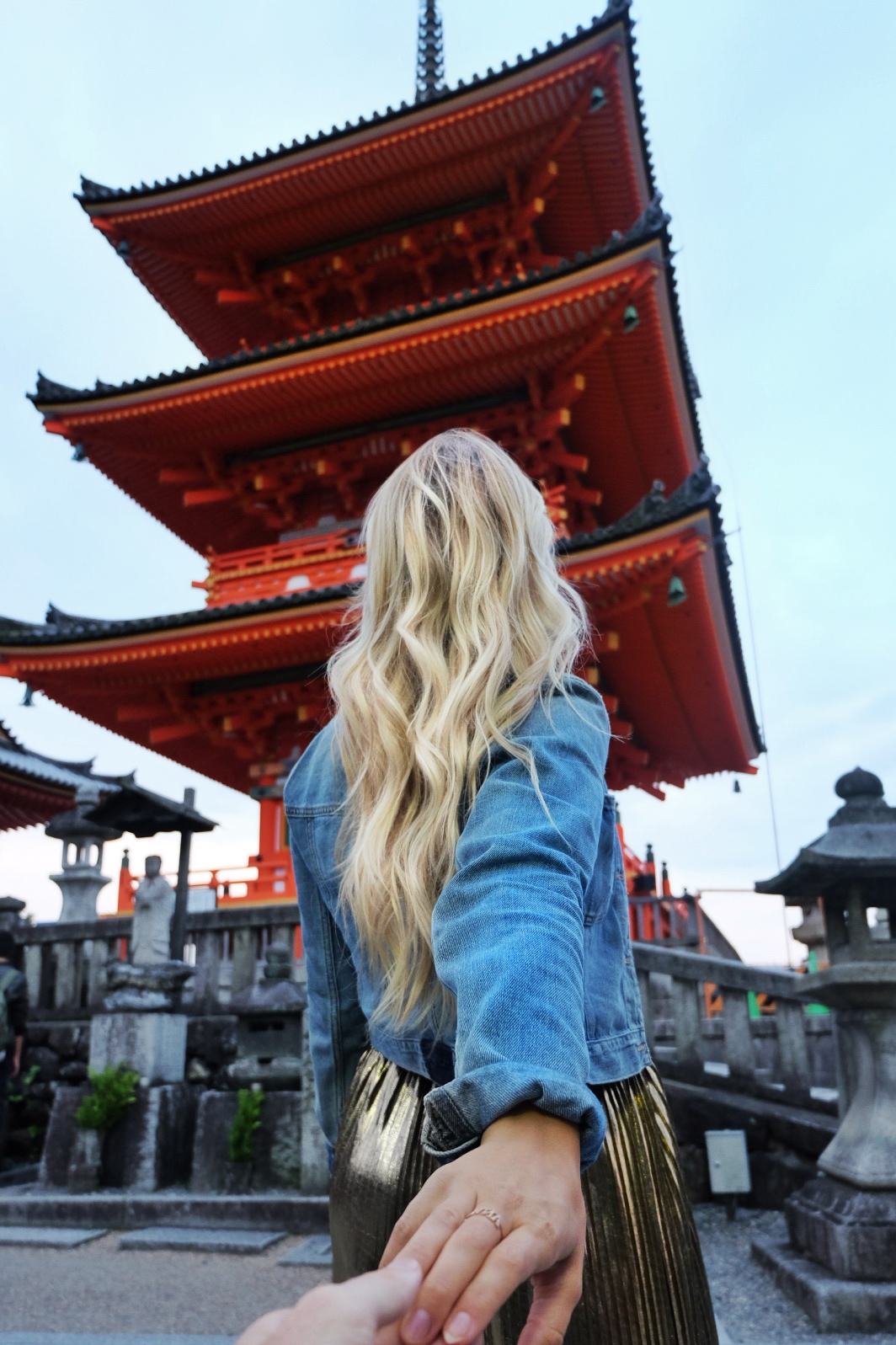 Exploring temples in Kyoto