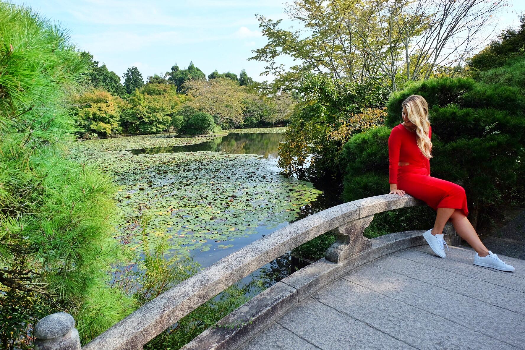 Feeling zen in a Japanese garden