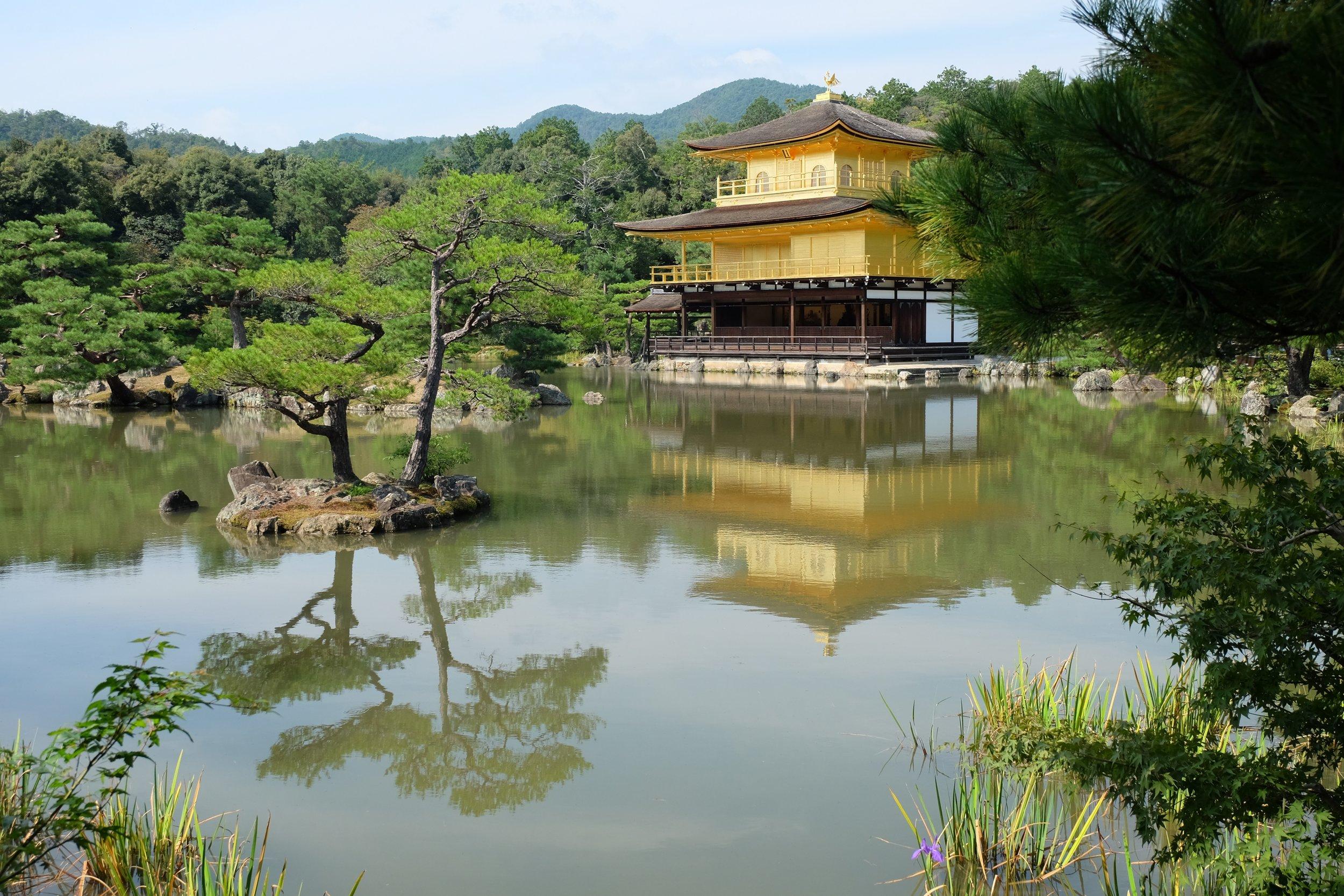 The magical sight of Kinkakuji Temple in Kyoto