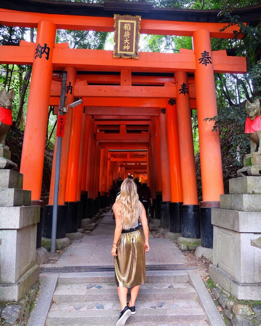 The endless torii gates at the Fushimi-Inari Shrine