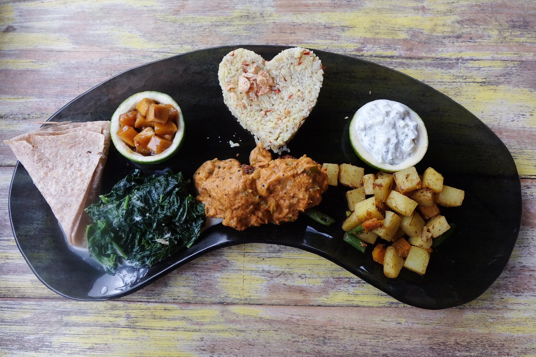 Indian Platter at Clear Cafe, Ubud