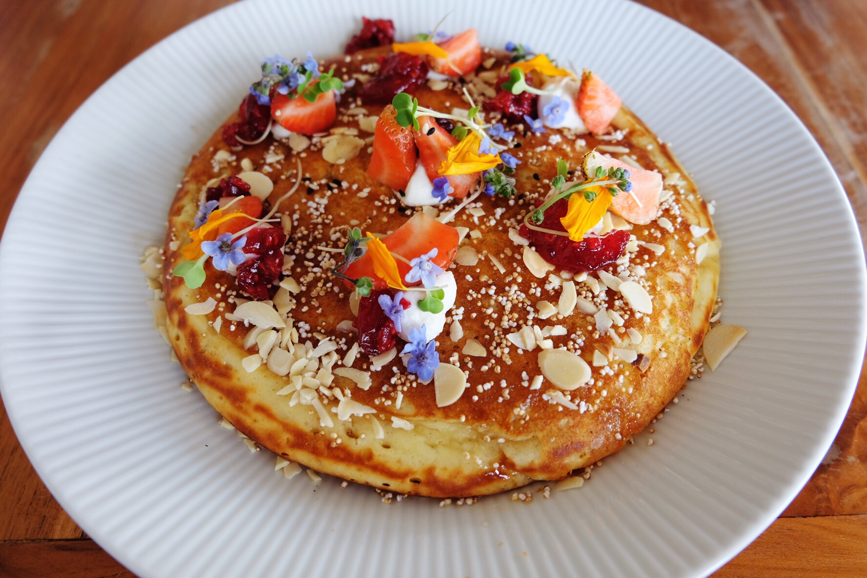 Fluffy Buttermilk Pancake at Watercress, Ubud