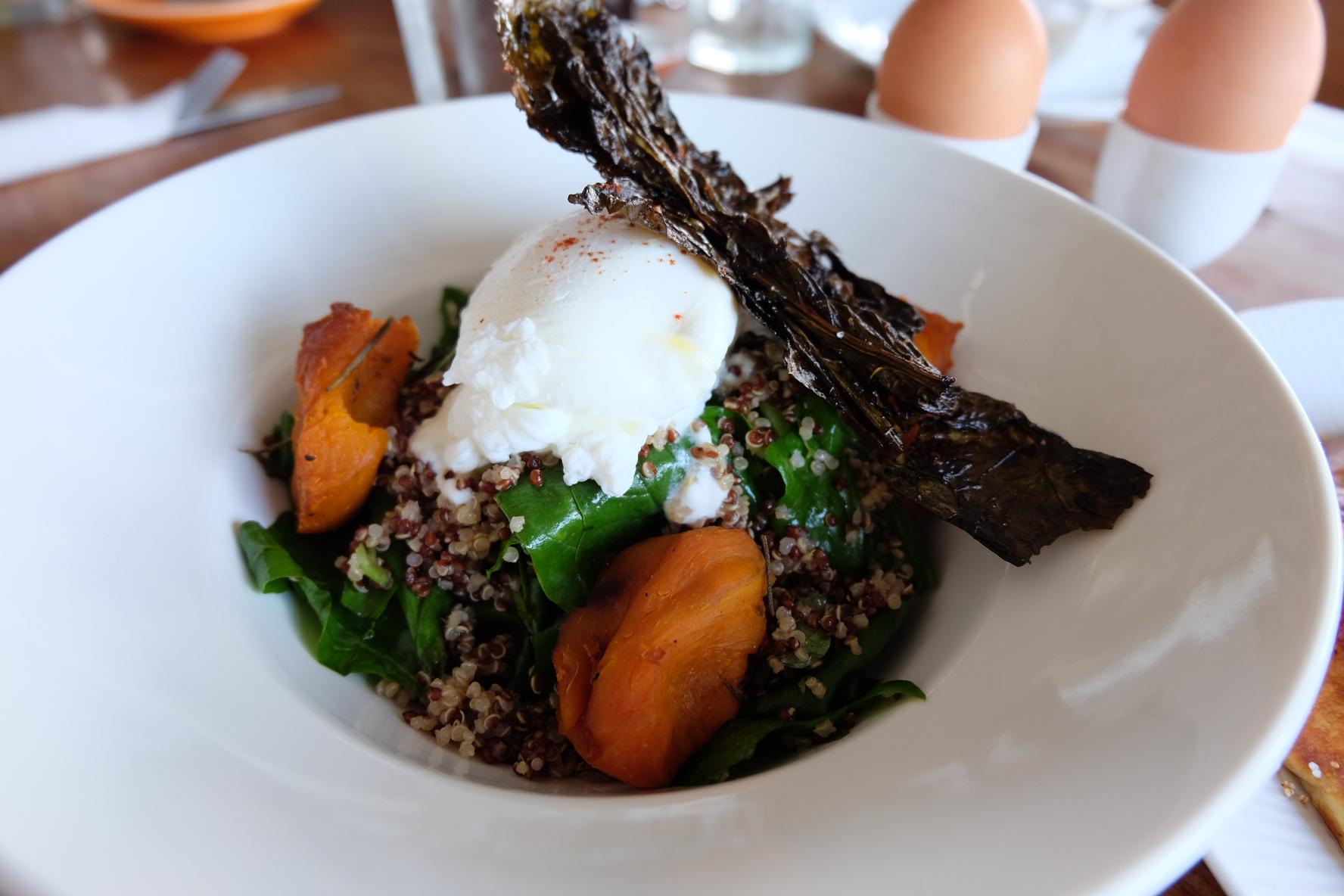 Quinoa, Crispy Kale, and Poached Eggs at Watercress, Ubud