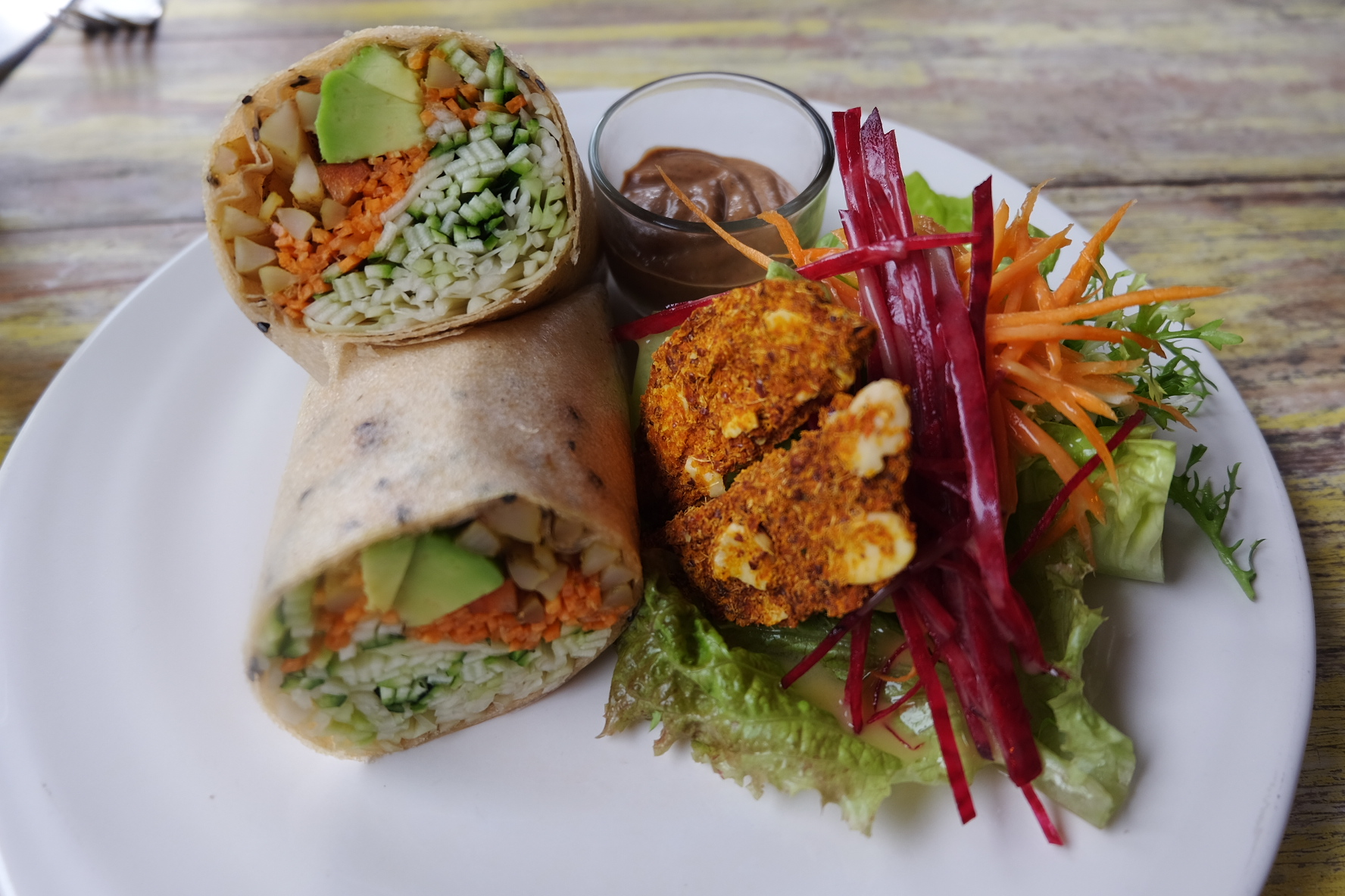 Coconut Wrap at Clear Cafe, Ubud