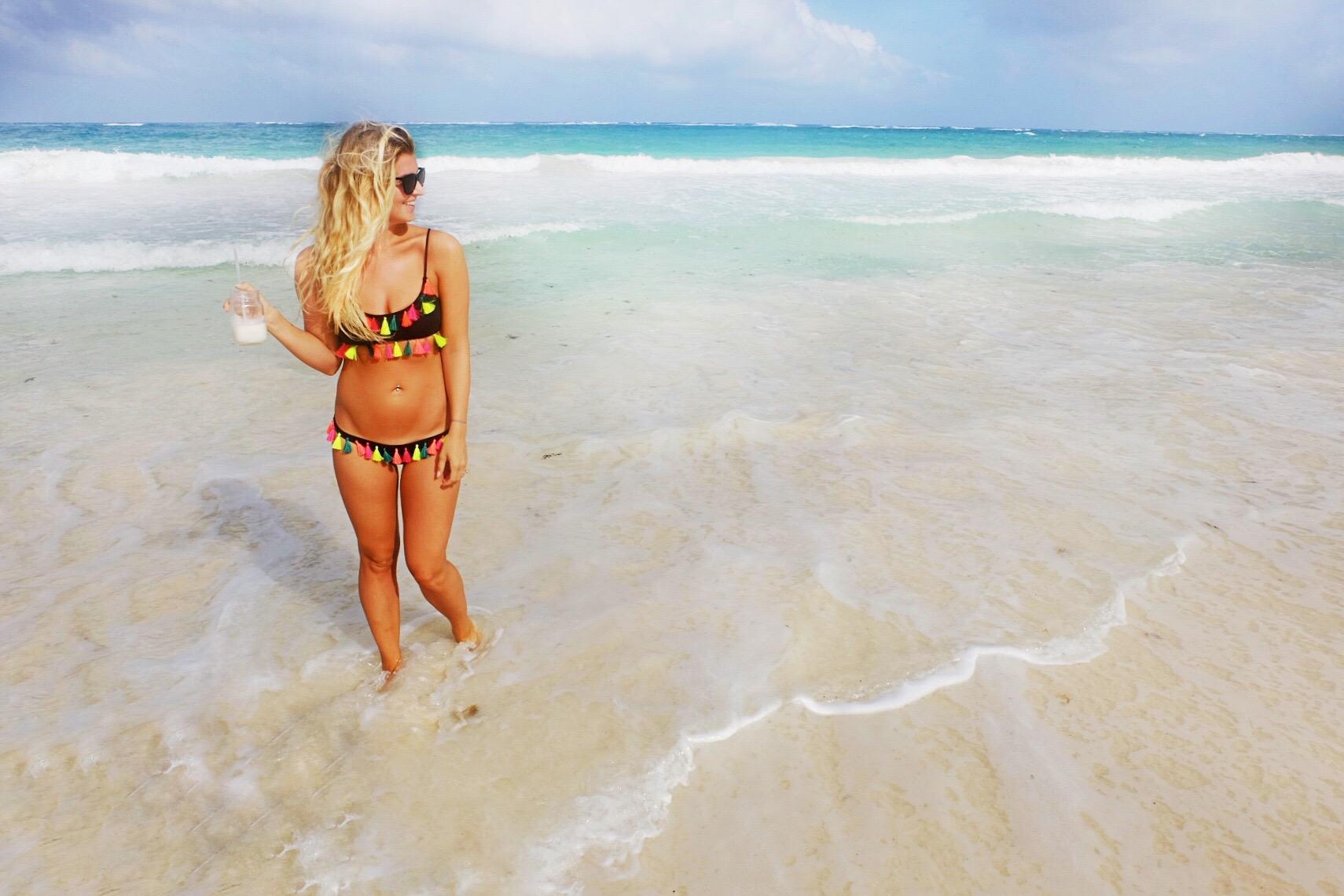 Pinata-inspired beachwear and pina coladas are essentials for Mexico