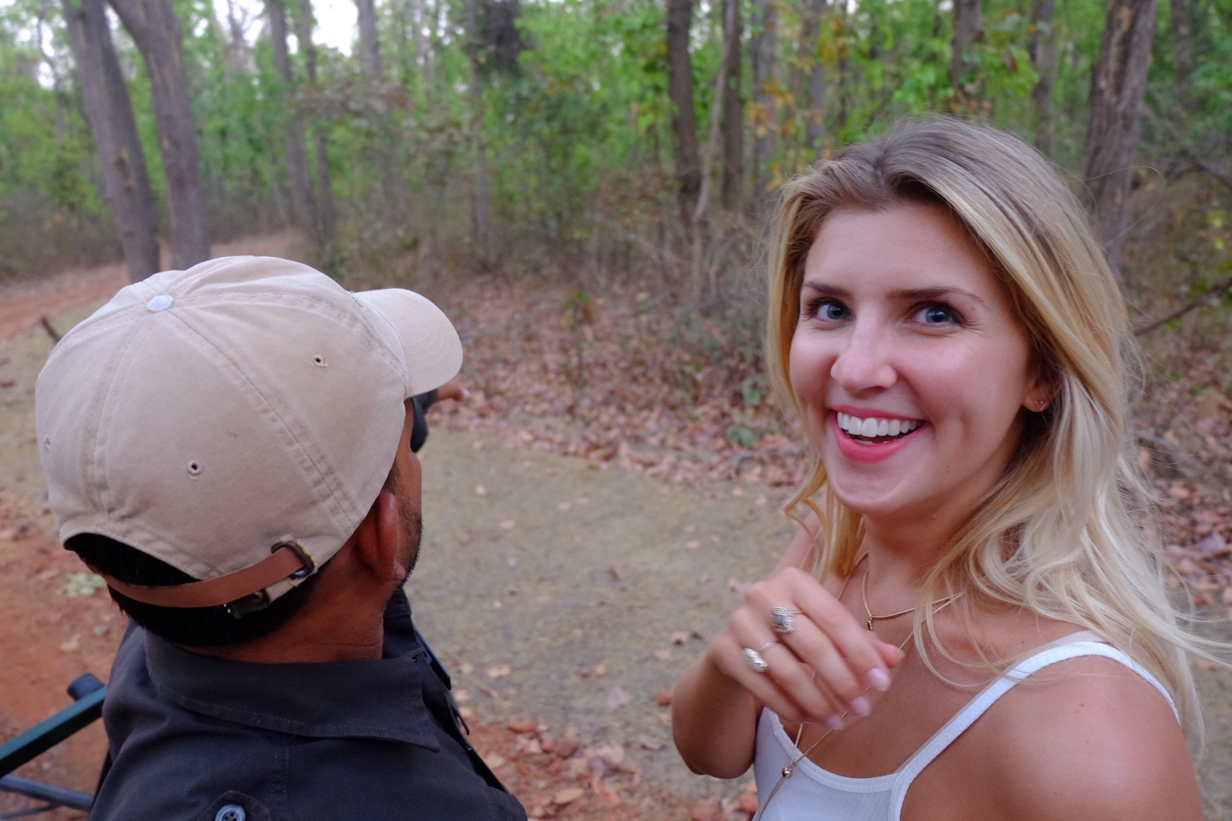 This is the face of a girl who's just seen her first tiger in the wild! My most genuine smile!