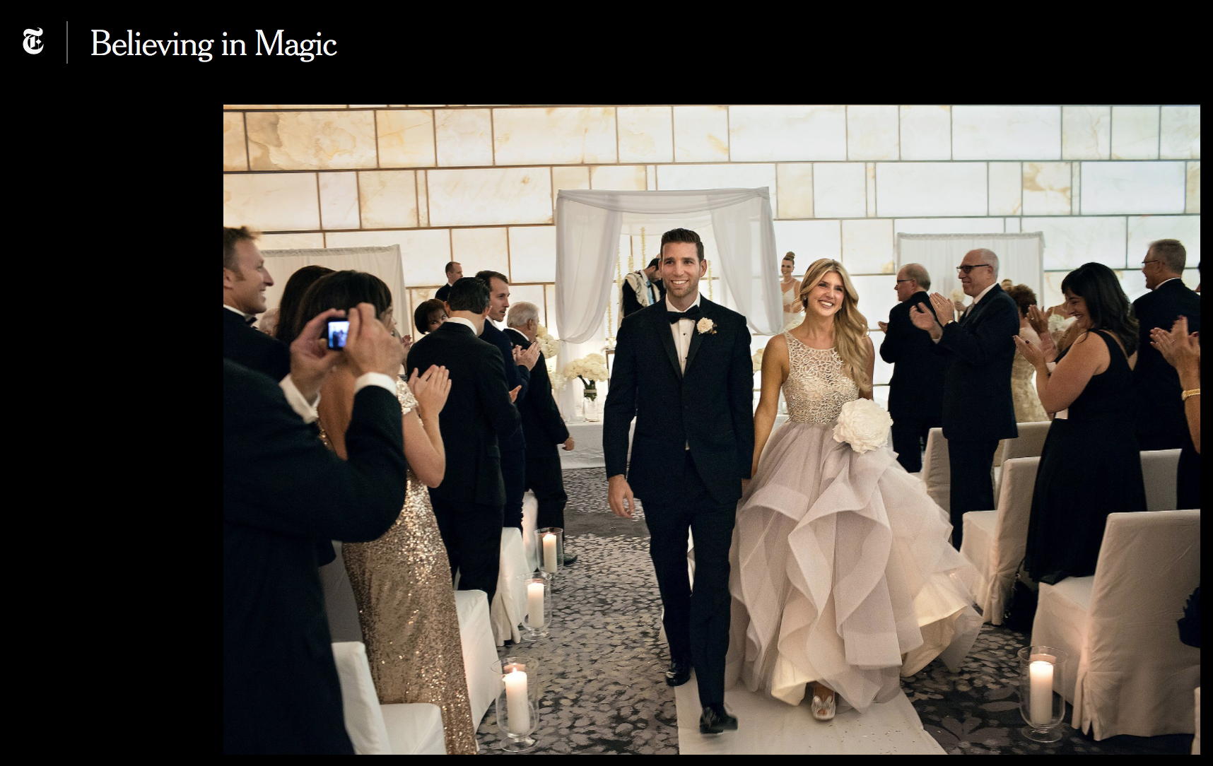 A Magician Marries His Assistant   from The New York Times September 2015