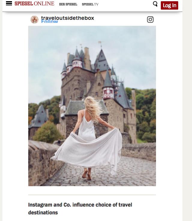 Vacation Inspiration on Instagram  from Spiegel Online November 2017