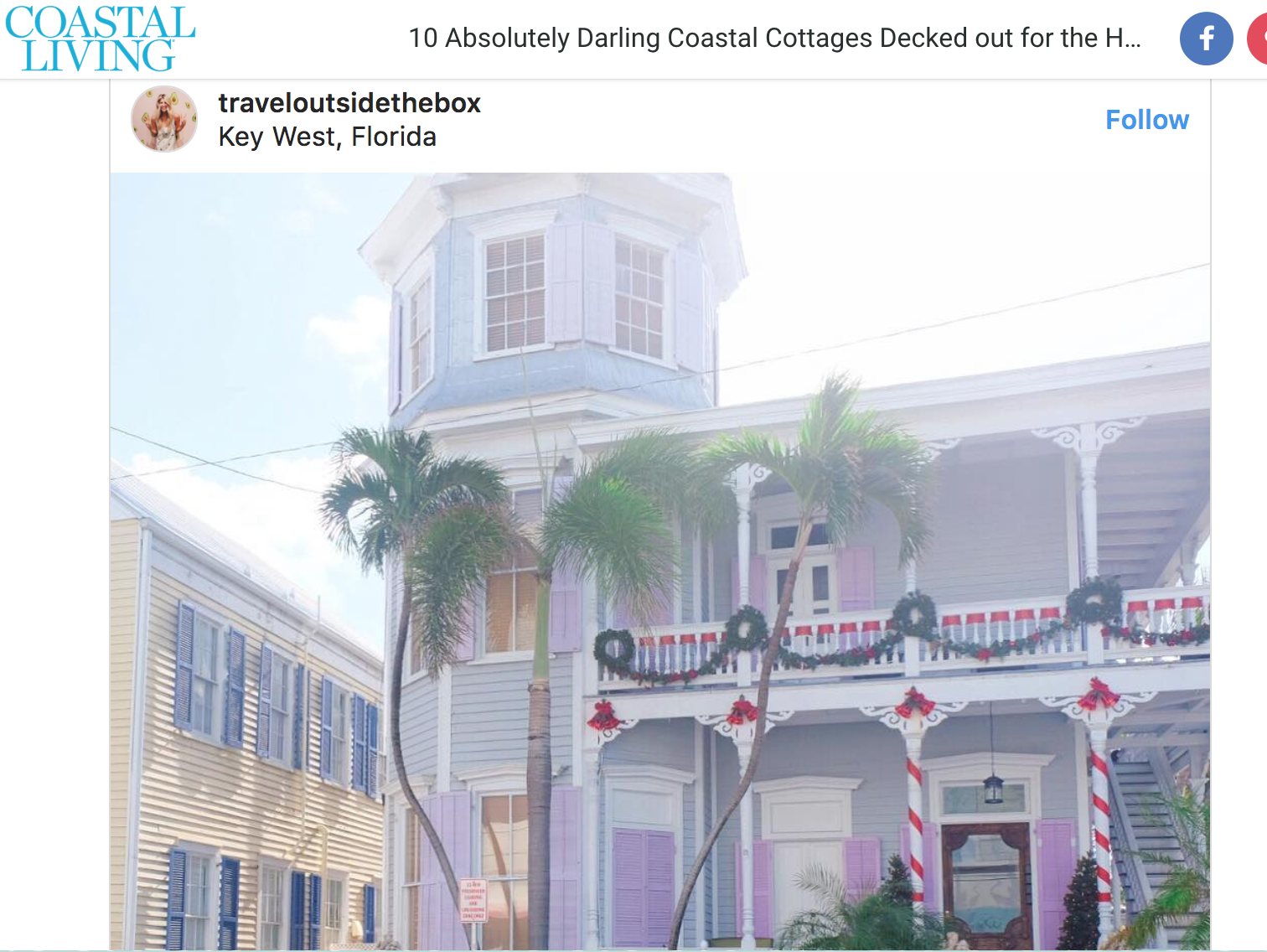 Ten Absolutely Darling Coastal Cottages Decked Out for the Holidays  from Coastal Living December 2017