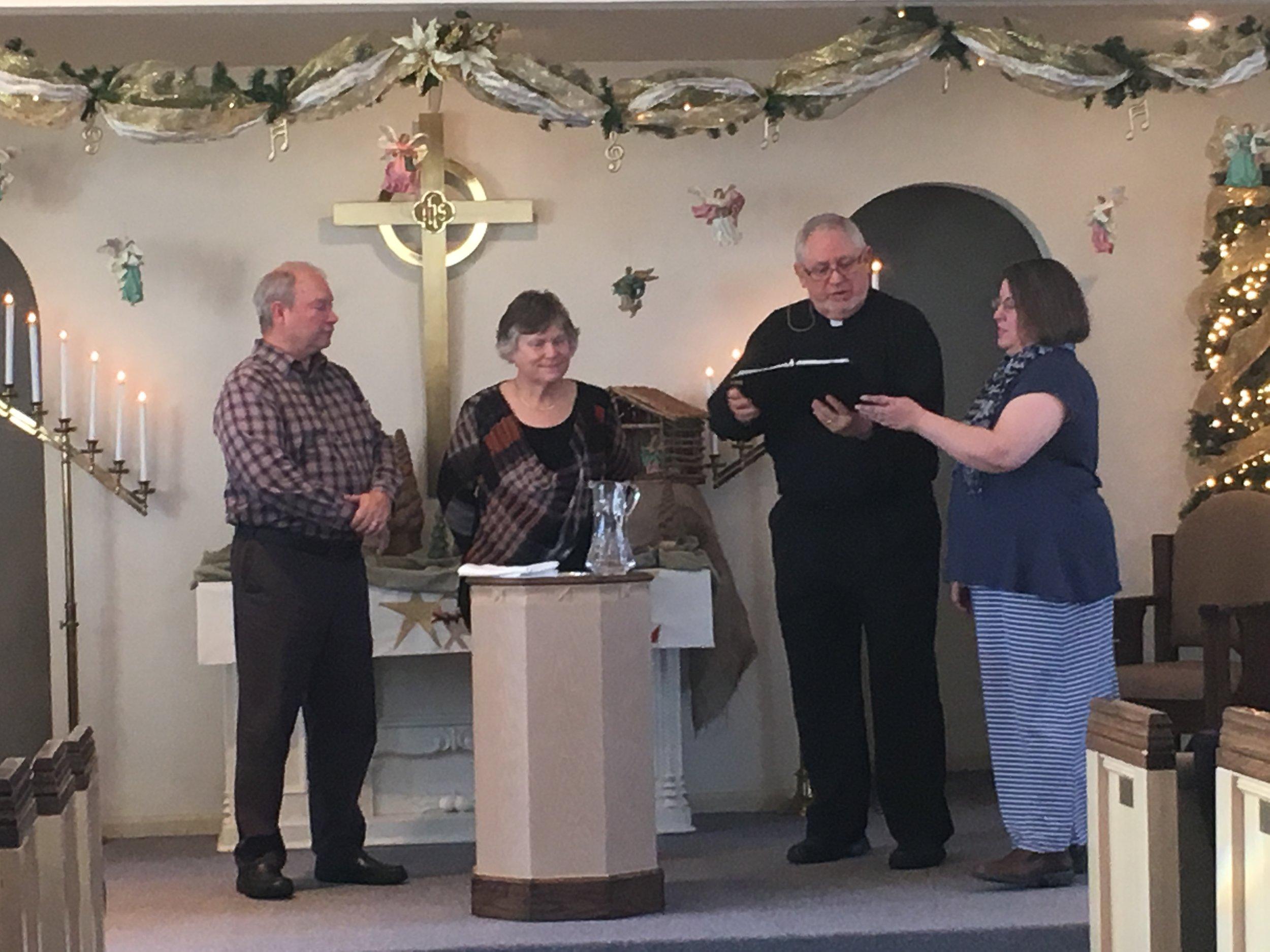 Larry Larsen & Penni Deshaw - New Church Members - December 3, 2017