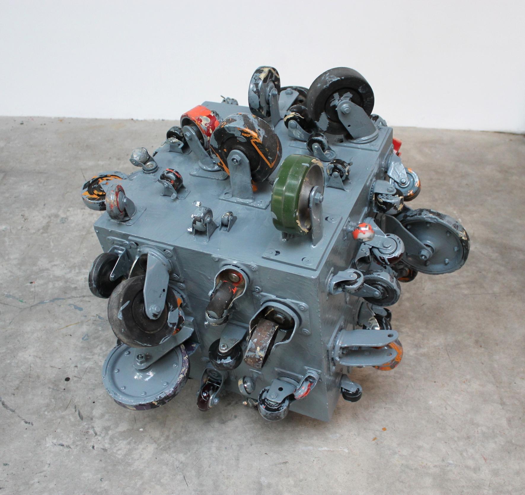 Rolling Platform (Sea Grey) 2012 35.25 x 40 x 36.75 inches