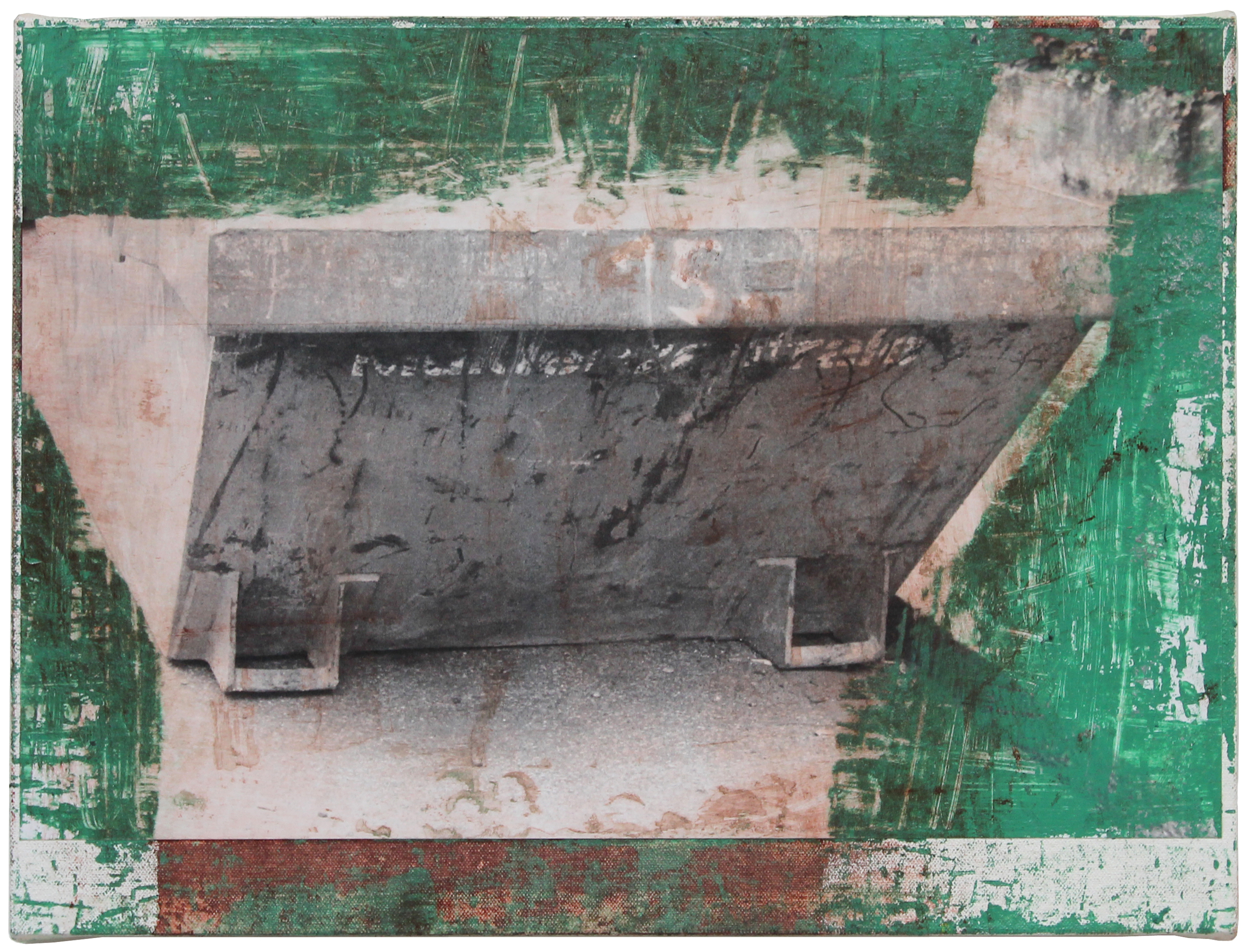 Photo-Painting #112 2015 12 x 16 x 1 inches