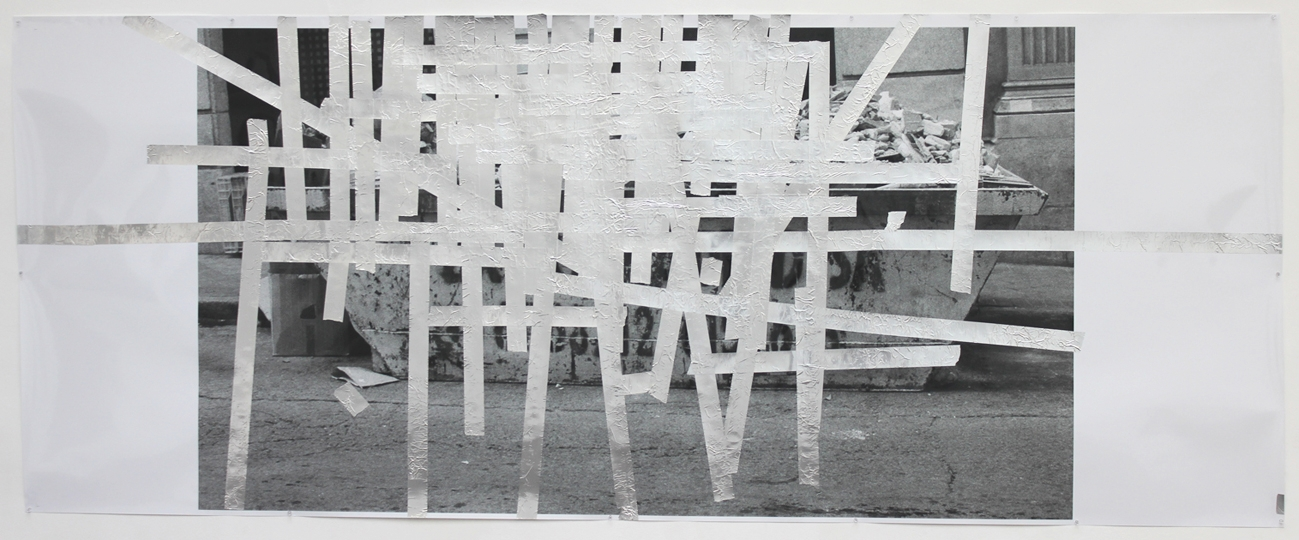 Tape Drawing (Madrid) 2012 50 x 126.5 inches
