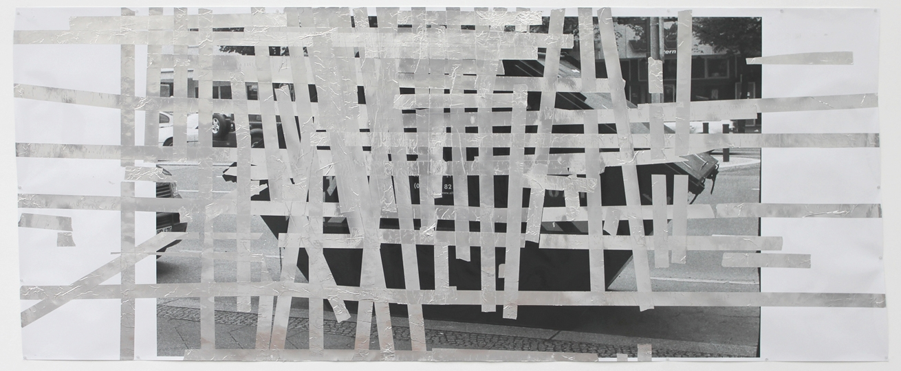 Tape Drawing (Berlin #1) 2010 50 x 126.5 inches