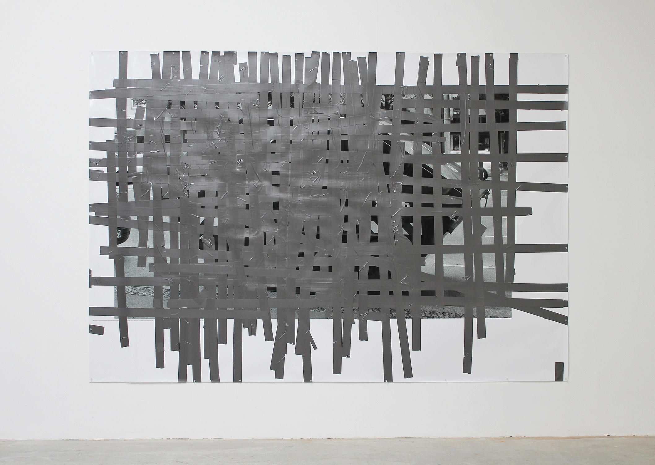 Tape Drawing (Berlin #2) 2013 72 x 104.25 inches