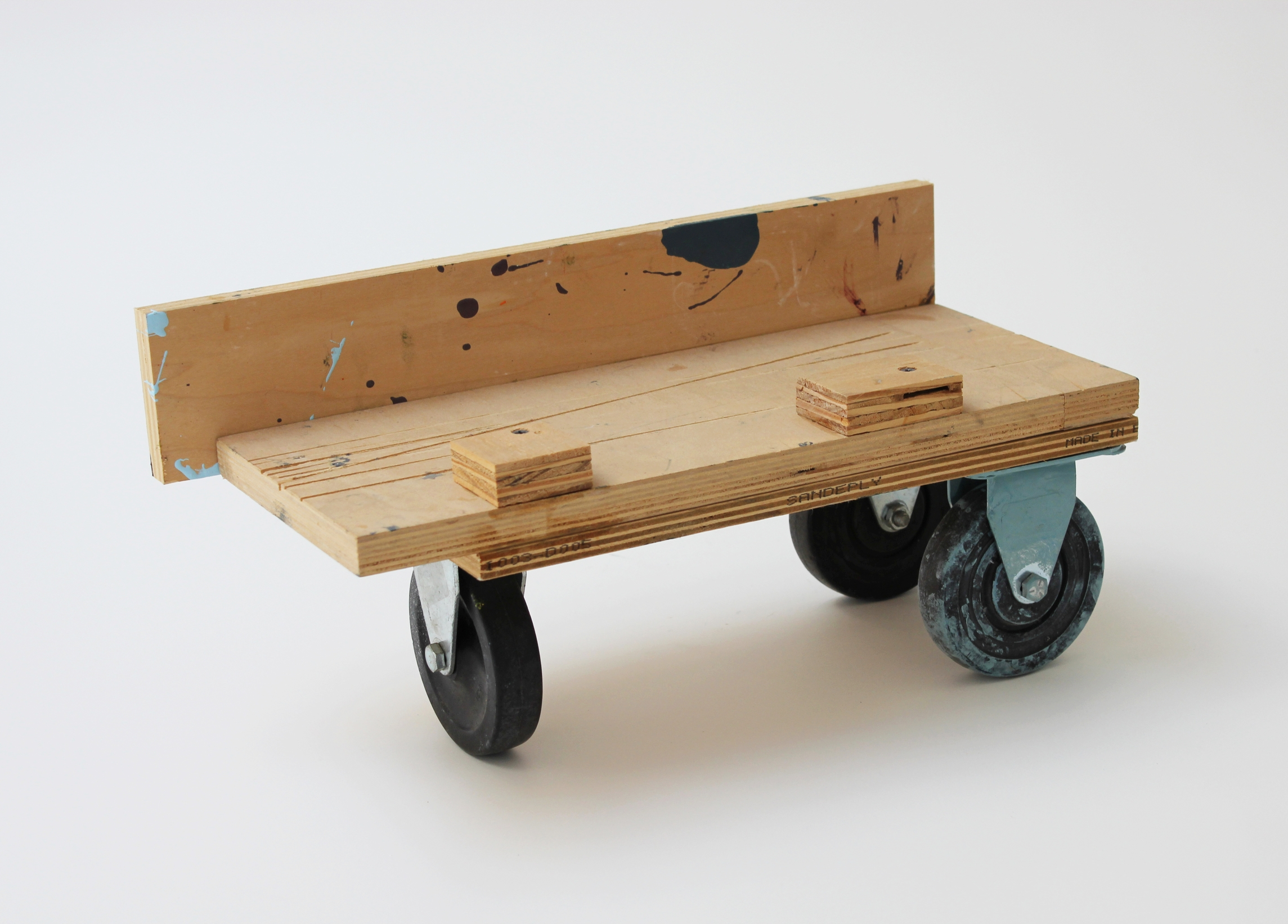 Small Rolling Platform #71 2015 8.5 x 17 x 7.75 inches