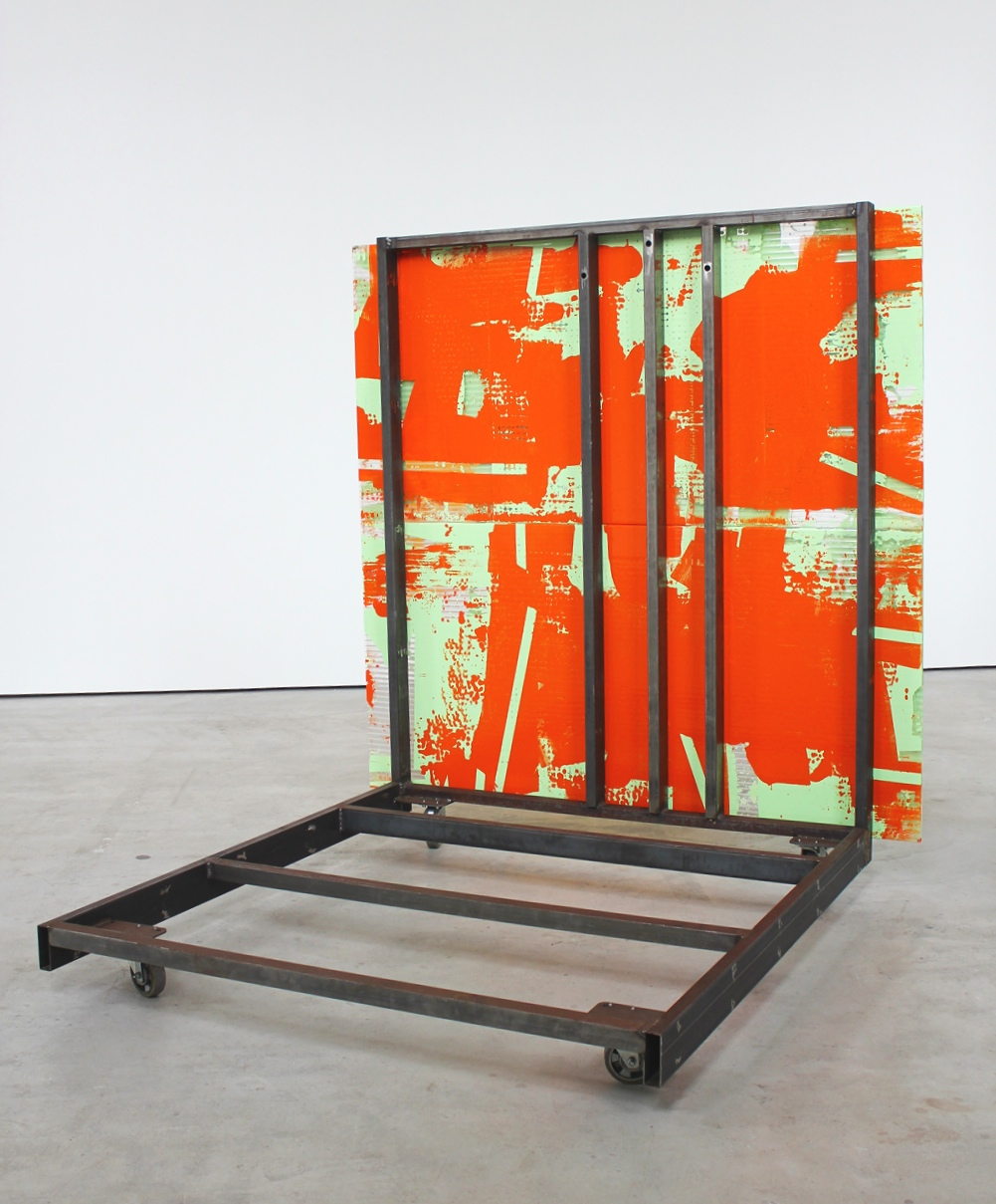 Intra Painting / Solothurn #6 (Rolling Platform) with Reto Emch 2019 84 x 79.375 x 75.7 inches