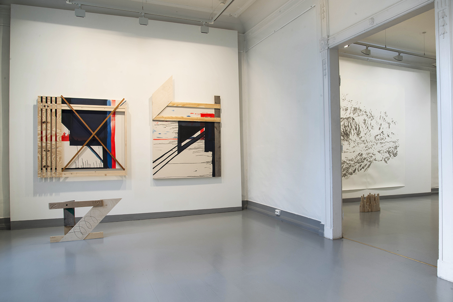 Installation photo from the duo exhibition  Logg