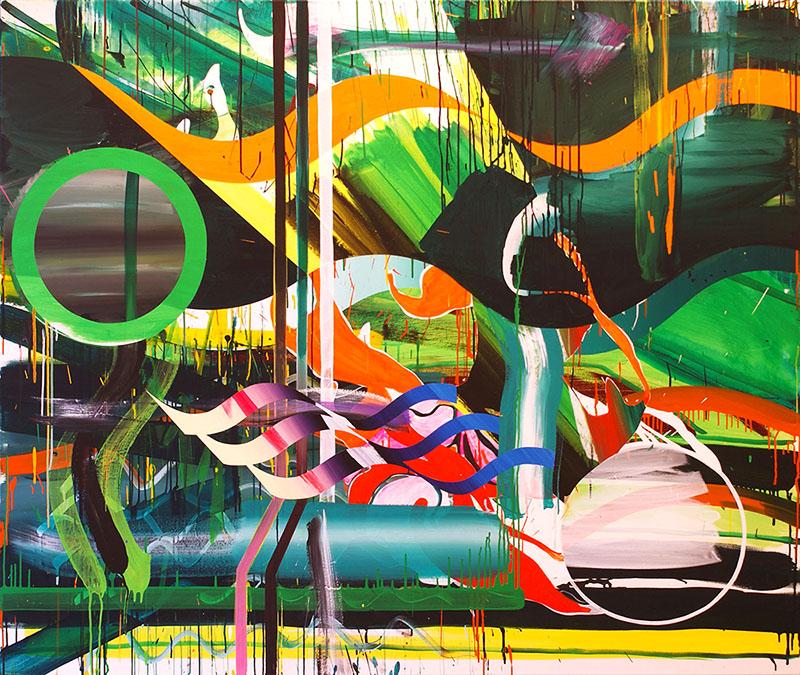 Beneath The Garden 2010 Acrylic on canvas 169 x 190 cm Private collection Oslo