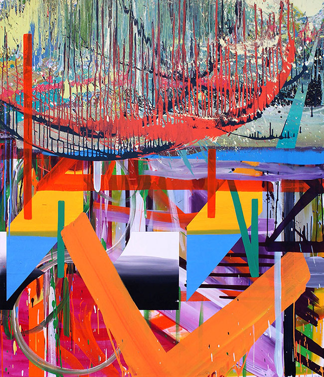 In Between 2011 Acrylic on canvas 169 x 146 cm