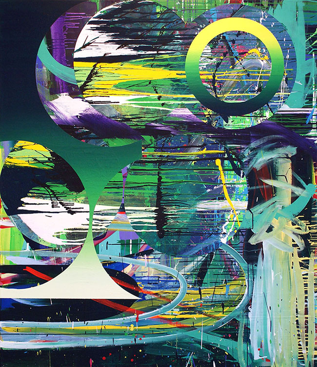 Noise and Silence 2011 Acrylic on canvas 169 x 146 cm Public collection, Stavanger Kunstmuseum