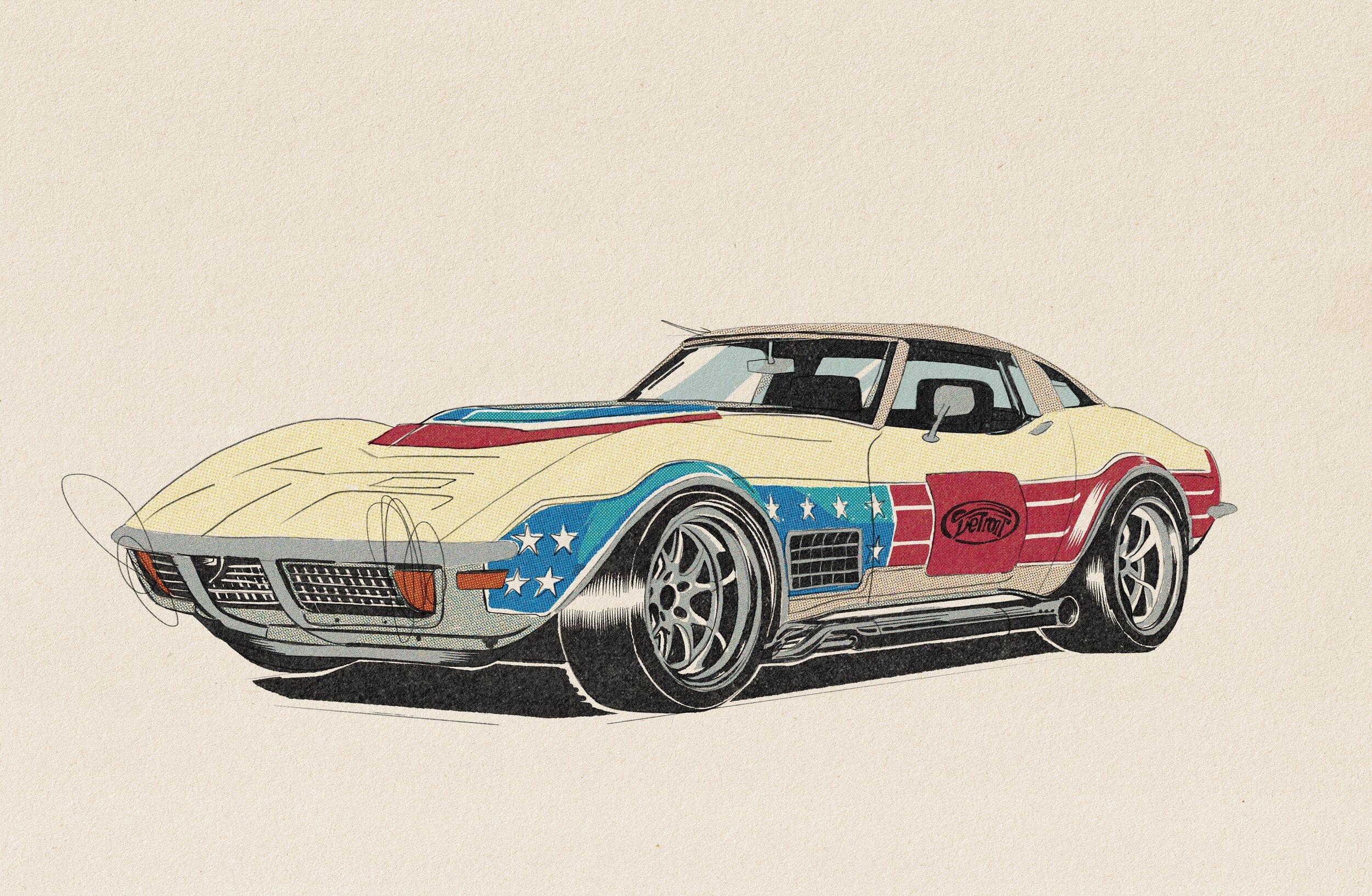 Hot_Wheels_Corvette_Illustration_Art_Of_Racing