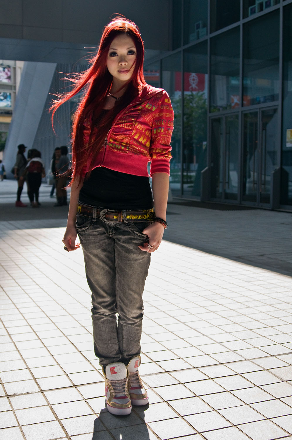 """Tai, Jewelry Design   """"I love red and vintage style. I am wearing fake eyelashes. Mid Gothic, hip hop and Japanese are my favorite styles."""""""
