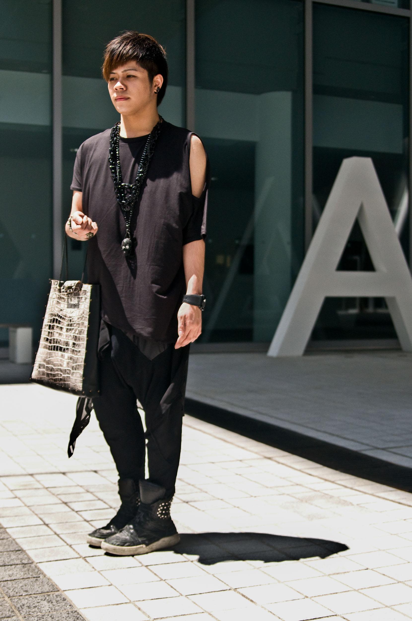 "Chris, Fashion Design & Branding   ""I like skulls and studs, and always wear black."""