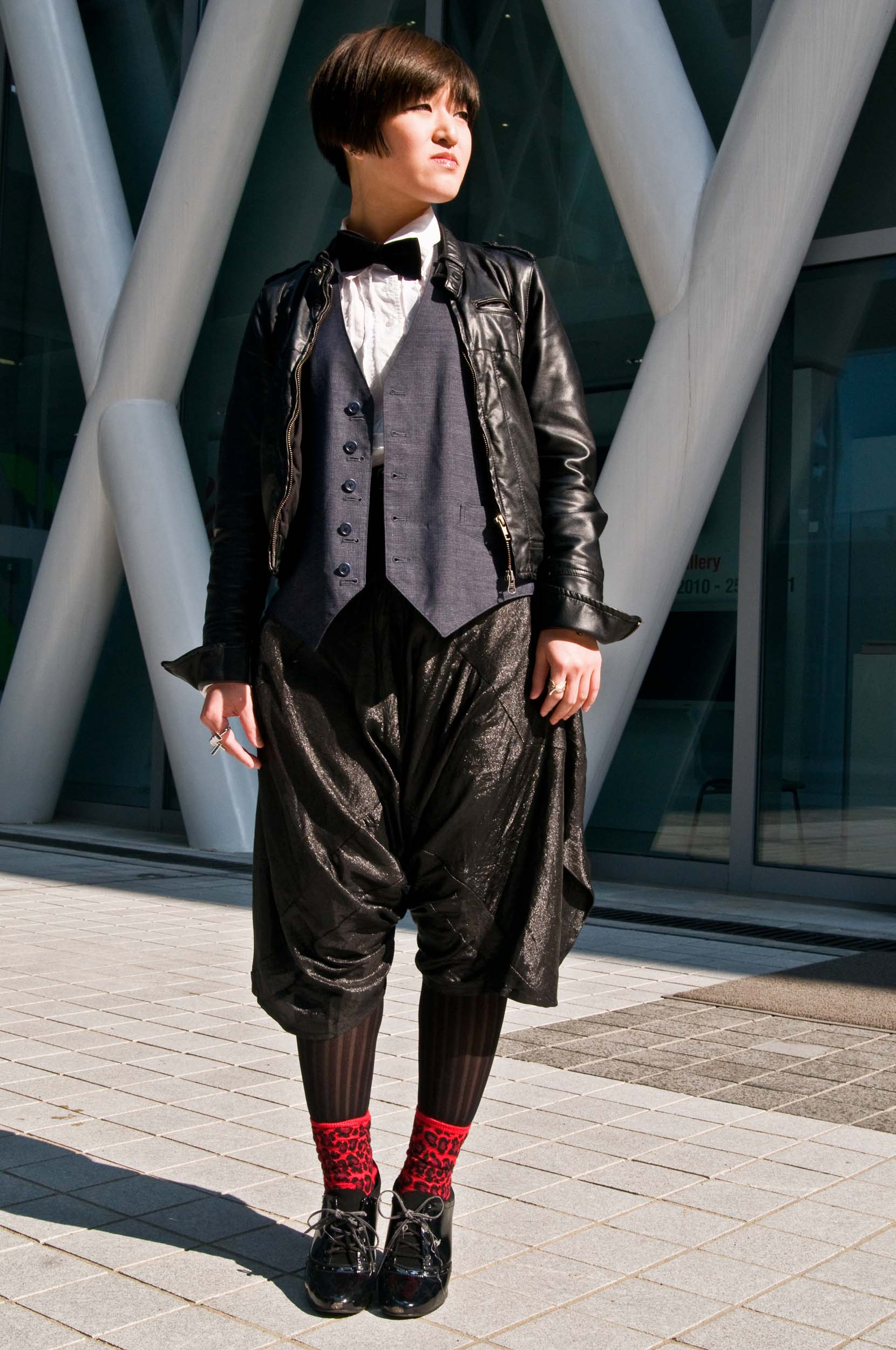 """Sum, Fashion Design and Product Development   """"I bought my shorts because they have a nice cut, like a box, and have 3D dimension. My look today is nice gentleman. I wanted to dress colorful today, but I put on a bowtie and knew my look would be gentleman."""""""