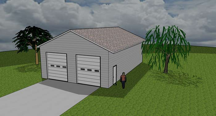 1440 SF Garagewith Loft - SF: 1440Building Difficulty: