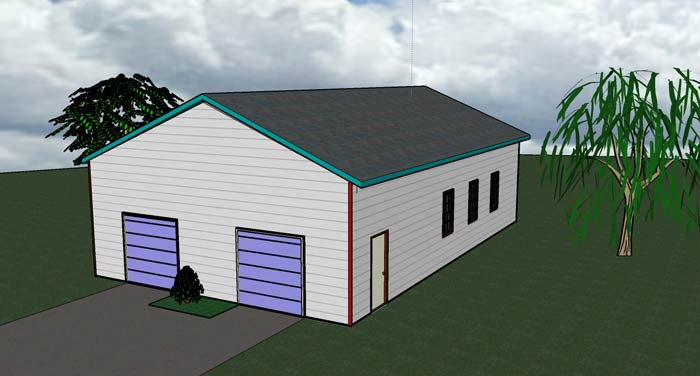 1440 SF Garage elevation 01 - SF: 1440Building Difficulty: 1