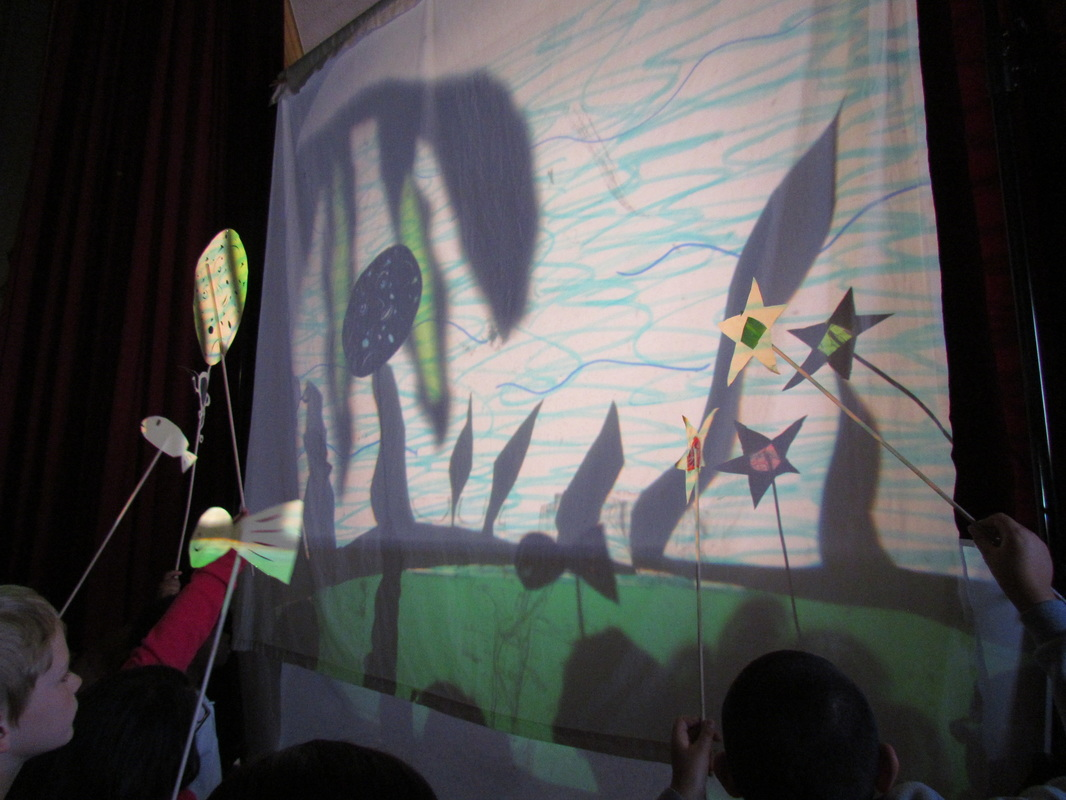 Leonard Flynn student shadow play backstage
