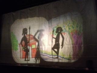 Everett MS student shadow play performance