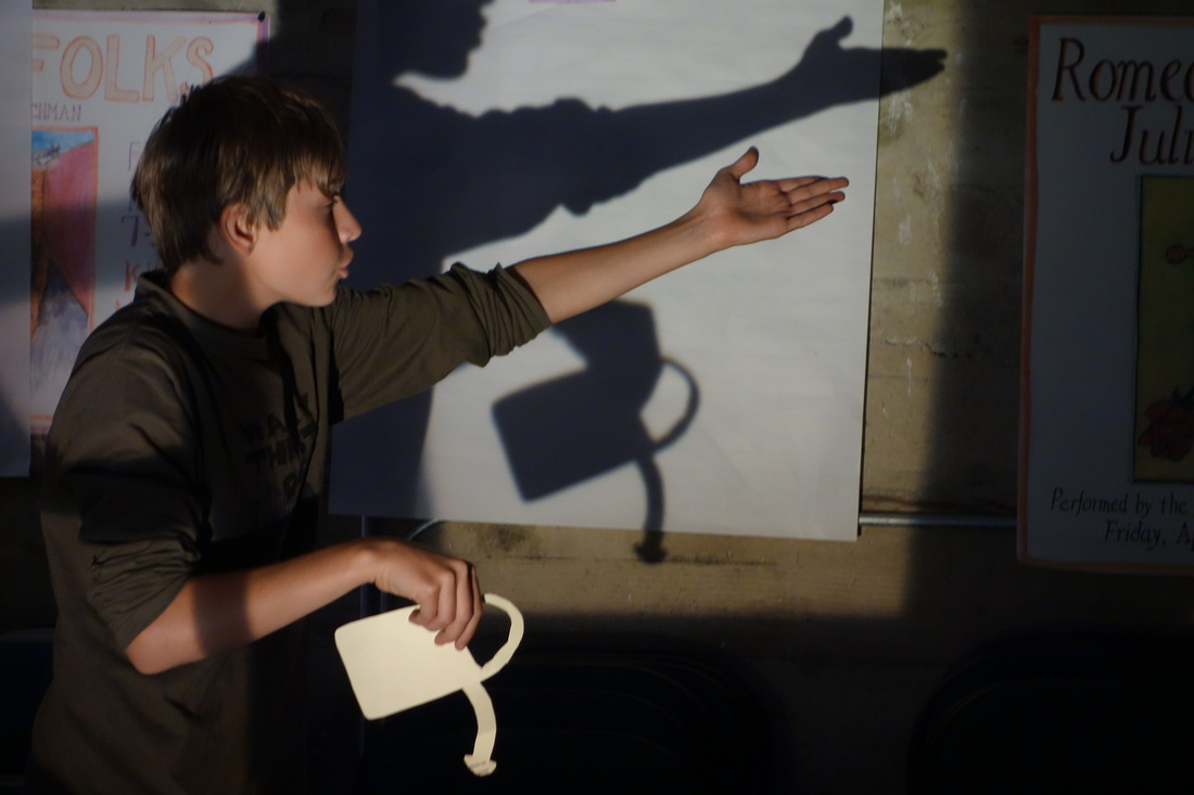 Practicing shadow theater techniques