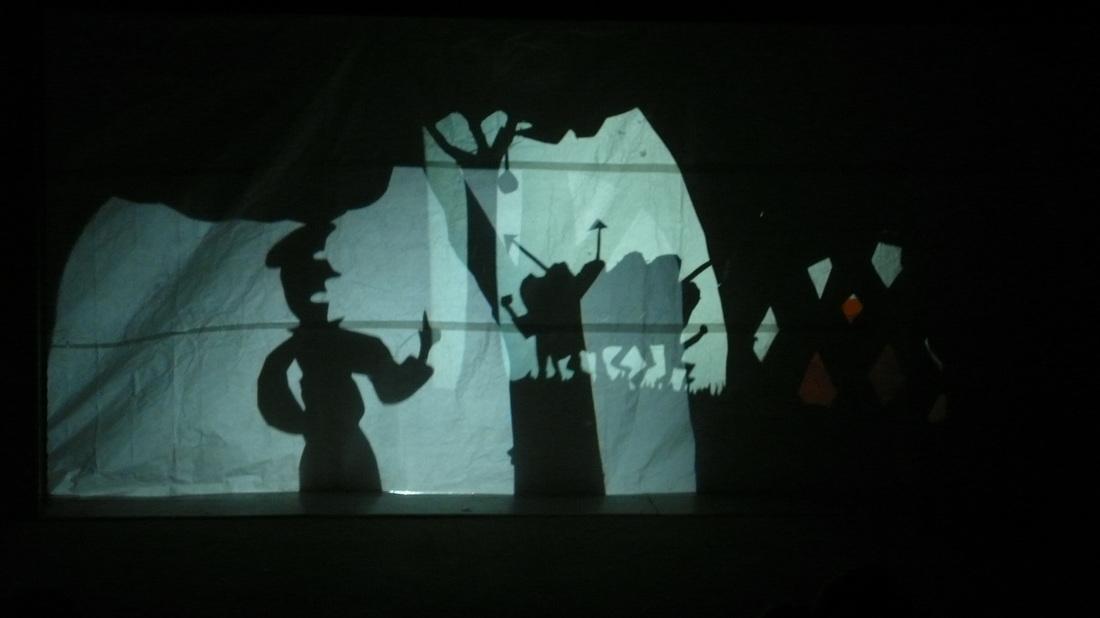 BVHM student shadow play performance
