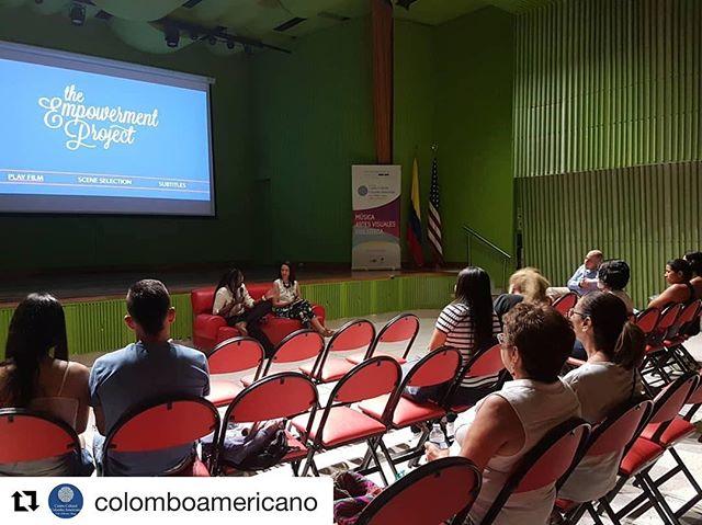 """Screening in Colombia! #Repost @colomboamericano with @get_repost ・・・ En este momento damos inicio al conversatorio """"Desafiando los estereotipos de género en el entorno laboral"""", con la invitada especial Ana Carolina Quijano, Subsecretaria de Equidad de Género de la Secretaría de Bienestar Social.  #EquidadDeGénero #CineclubColombo #CulturaColombo #ExchangeOurWorld #CasaMatria  @alcaldiadecali @americanfilmshowcase @empowermentdocu"""