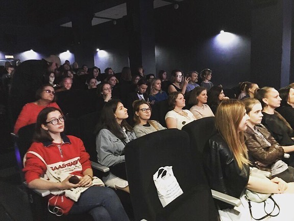 Images from our Russia screening today! Director Sarah Moshman skype'd in to answer questions and talk feminism, motherhood and work opportunity for women. Going global! #empowermentproject thank you @americanfilmshowcase
