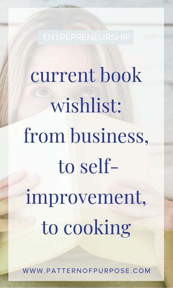 graphic that says: current book wishlist